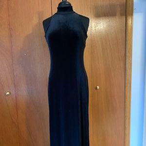 Ralph Lauren, Full Length, Velveteen Dress.